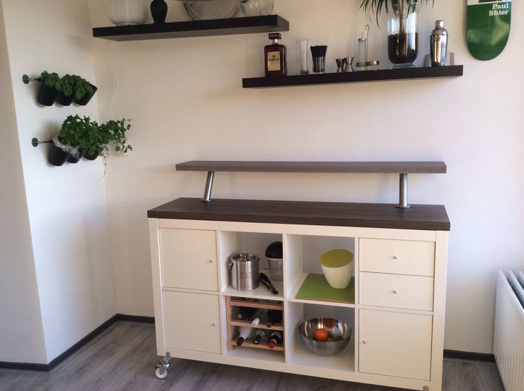 home bar inspired by ikea expedit series diy home. Black Bedroom Furniture Sets. Home Design Ideas
