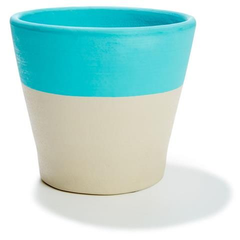 18cm Dipped Pot - Blue | Kmart