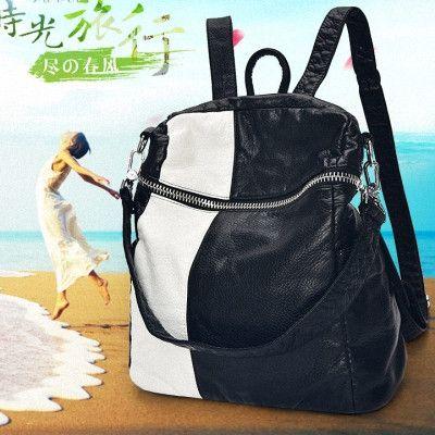 Women Leather Rivet Backpack Style Designer