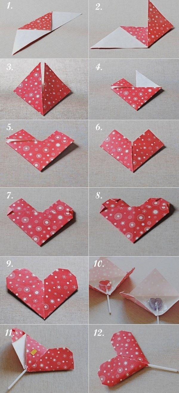 VALENTINE'S GIFT IDEA: HEART SHAPE PAPER ORIGAMI