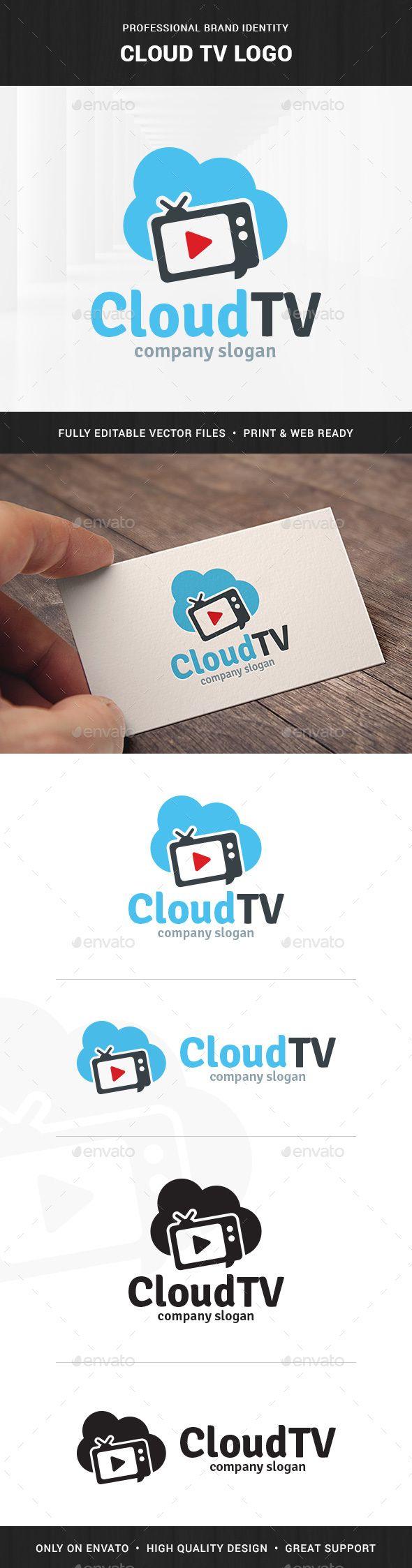 Cloud TV Logo Template