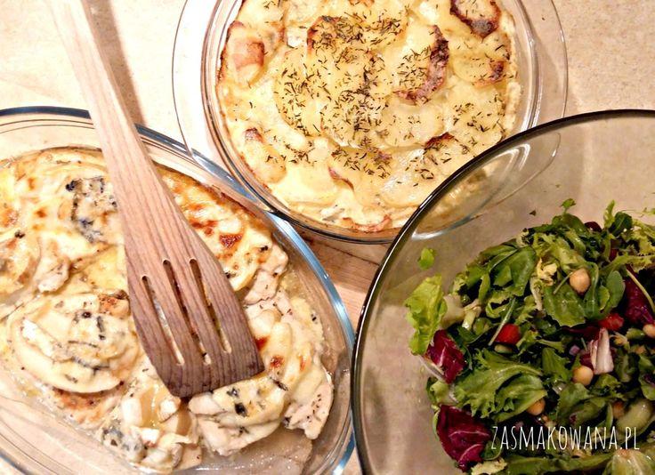 Kurczak zapiekany z serem pleśniowym i gruszkami http://www.zasmakowana.pl/kurczak-zapiekany-z-serem-plesniowym-i-gruszka/