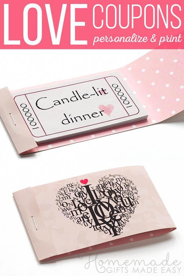 Editable Romantic Coupons Template From Homemade Gifts Made Easy