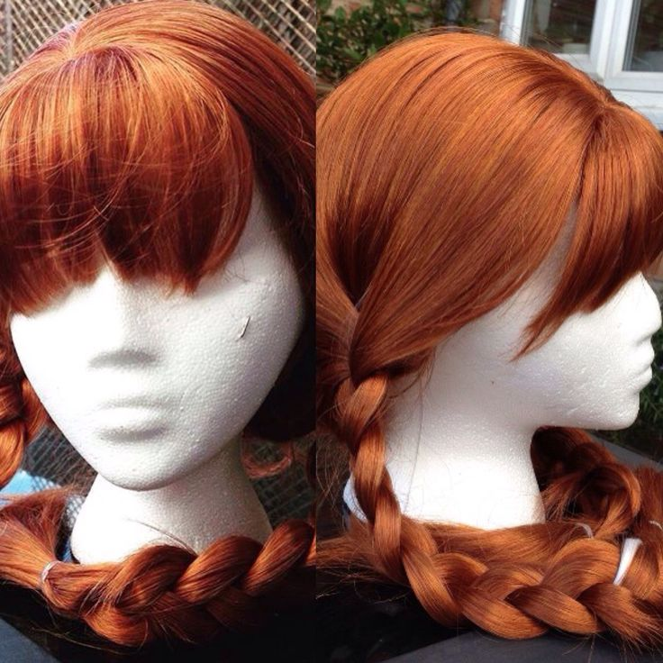 Here's our Snow Princess wig! #weloveginger #gingerpower #princesswig #wigs #princessparty #icequeen