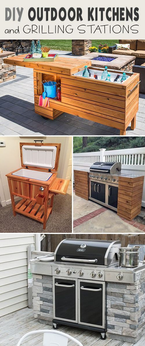 25+ best Diy outdoor kitchen ideas on Pinterest | Grill station ...