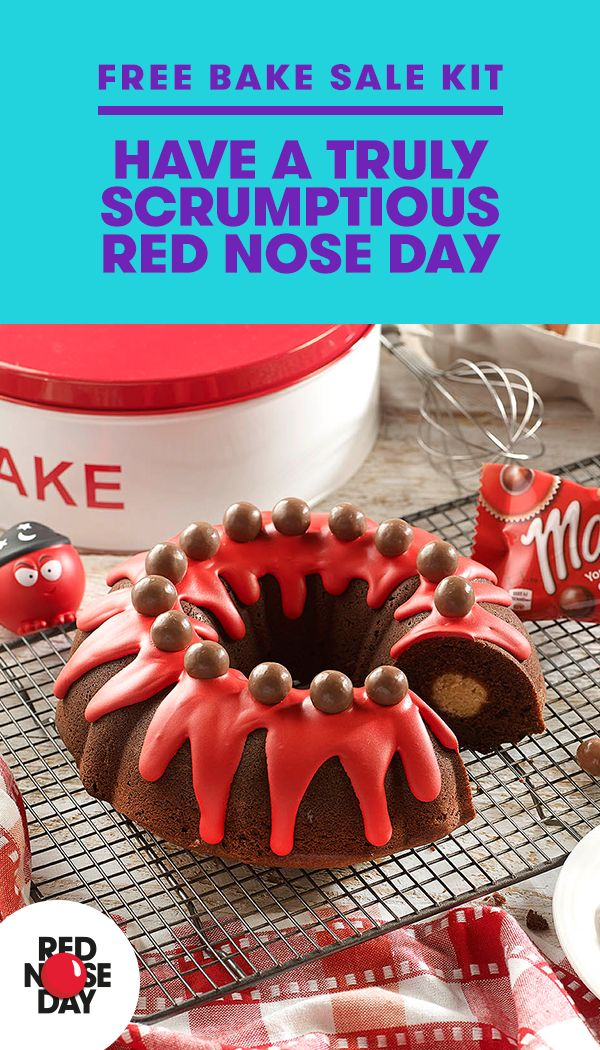 Is baking your thing? Turn your hobby into money for a good cause when you order a free Red Nose Day Bake Sale Kit. It's chock-full of recipes, tips, cake labels, posters and everything else you need to have a bake sale that's sure to be a success. Order your kit at the Red Nose Day website and make the world a better place one sweet treat at a time.