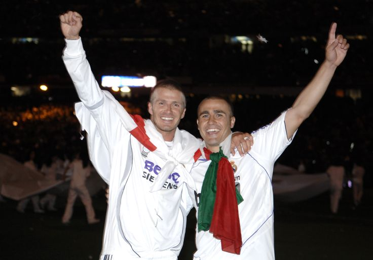 Fabio and David Beckham Real Madrid Liga