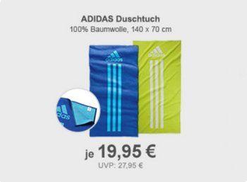 Allyouneed: Adidas-Duschtuch für 19,95 Euro frei Haus https://www.discountfan.de/artikel/technik_und_haushalt/allyouneed-adidas-duschtuch-fuer-19-95-euro-frei-haus.php Heute schon an den nächsten Sommerurlaub denken: Bei Allyouneed gibt es als Wochenend-Offerte jetzt ein Adidas-Duschtuch aus 100 Prozent Baumwolle für 19,95 Euro frei Haus. Verfügbar ist das Textil in blau und neongelb. Allyouneed: Adidas-Duschtuch für 19,95 Euro frei Haus (Bild: All... #Bad, #Duschtuch