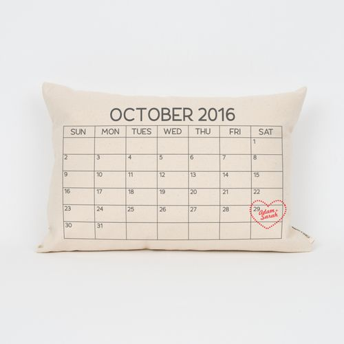 Peronalized Calendar Pillow, 2nd Anniversary Custom Pillow | Finch & Cotter