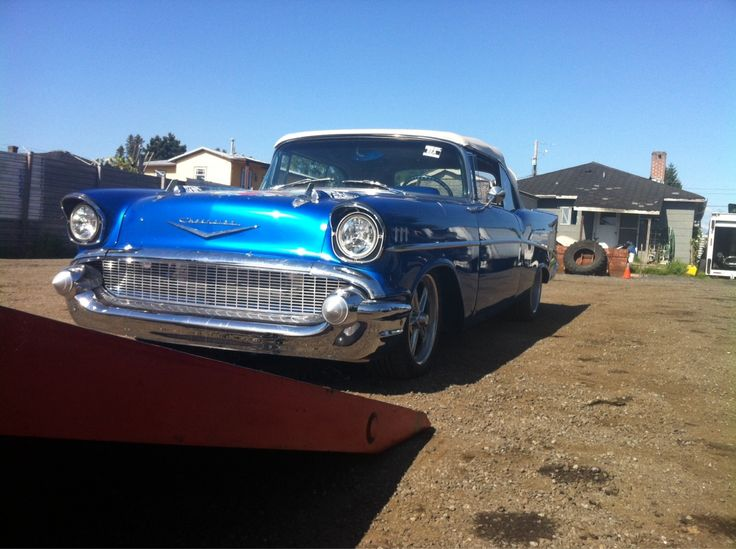 1957 Chev Bel Air we picked up on Seattle and returning it to calgary after if spent the winter in Hawaii.