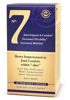 Solgar - No 7 Joint Support - 90 Vcaps by Solgar. $29.95. Solgar® No. 7 is the next generation alternative after glucosamine that increases mobility, flexibility and range of motion in sensitive joints.* In this breakthrough formulation, No. 7 brings together bio-active nutrients that work to create a fast acting approach for occasional 'tweaks' and joint stresses brought on by exercise, sport or physical activity. With increased mobility and flexibility, Solga...
