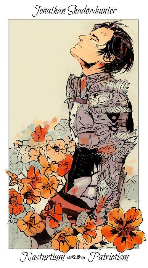 """FLORES SHADOWHUNTER Aqui estão todas as cartas do Shadowhunter flower cards, feitas pela artista Cassandra Jean. Essas e outras artes inéditas encontram-se disponíveis em um livro, """"Uma história de notáveis Caçadores de Sombras e seres do submundo contada na linguagem das flores"""", na qual já está a venda no Brasil. Saiba mais sobre o livro …"""
