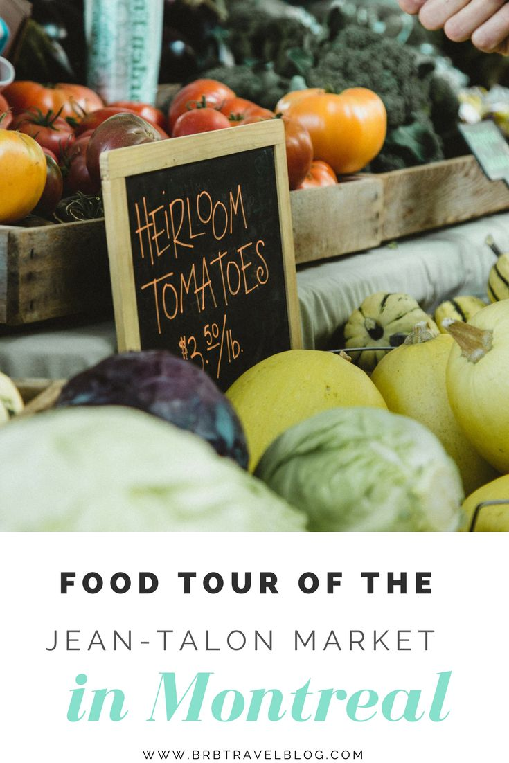 Food tour of the Jean-Talon Market in Montreal  #Montreal #Canada #foodtour #publicmarket