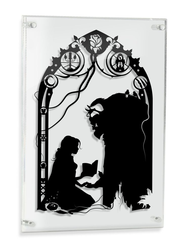 Beauty and the Beast hand cut paper