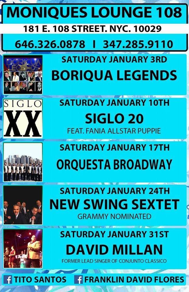 musica de Salsa - East Harlem monique's 108_salsa-101 AQUI >>  http://www.salsa-101.com/moniques-lounge-108-january-2015/