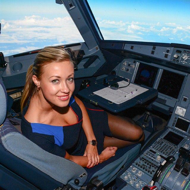 Flight attendant fucks pilot 3