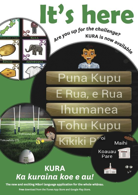 A brand new app available on iTunes and Google Play for all want a fun challenge while learning Te Reo Māori...download and give it heaps! Ko te reo te mauri o te Mana Māori!: