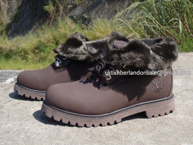 eddy Fleece Lining Women's Timberland Roll Top Boots All Brown $ 80.00