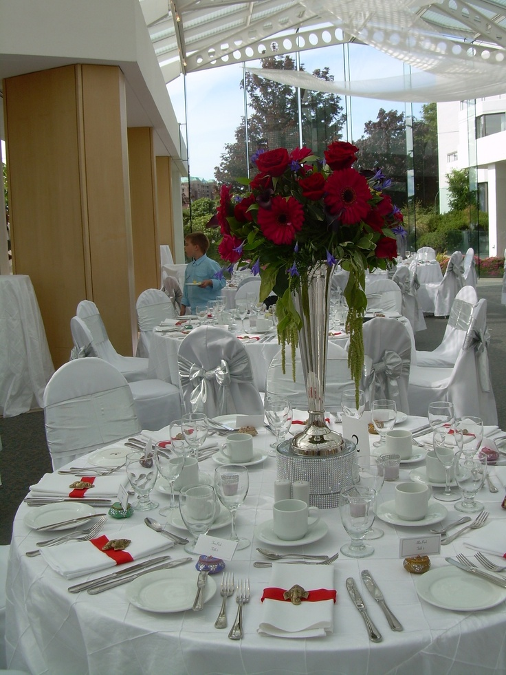 #red wedding tables ... Red wedding table decor