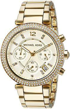 Michael Kors Damen-Armbanduhr Parker Chronograph Quarz golfarbener Edelstahl MK5354 - http://uhr.haus/michael-kors/one-size-michael-kors-armbanduhr-damen-uhr-mk5353