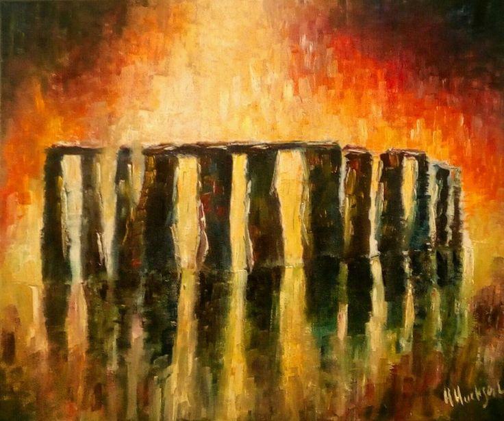 "'Stonehenge' Original Oil Painting 24"" x 20"""