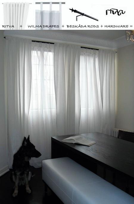 Ikea Curtain Ideas : Ikea ritva drapes other diy curtain ideas