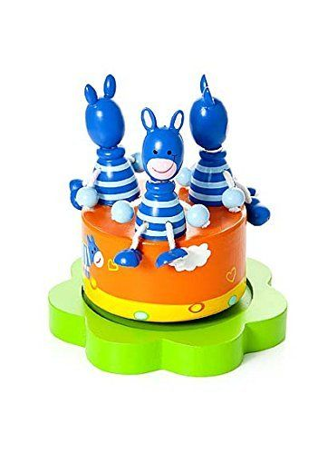 Twinkle Little Star Music This adorable colorful little zebra wooden music box will make any child smile. The lovely decoration and cute little zebra's with dangly legs will delight everybody who sees it.