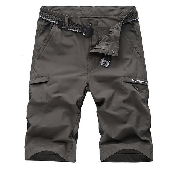 Big Size Summer Solid Color Outdoor Casual Cargo Shorts for Men