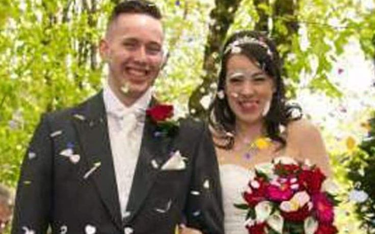 A husband murdered his wife of three years shortly before posting a farewell picture on Facebook and taking his own life in the garden of his parent's home, police believe.