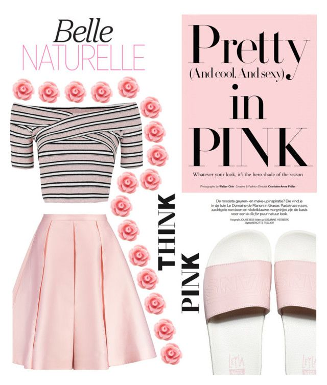 #pink by nka12 on Polyvore featuring polyvore, fashion, style, Topshop, Emilia Wickstead, Vans and clothing