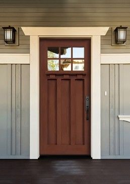 This is the kind of door I was talking about (this particular door: Belmont Craftsman Fiberglass door)