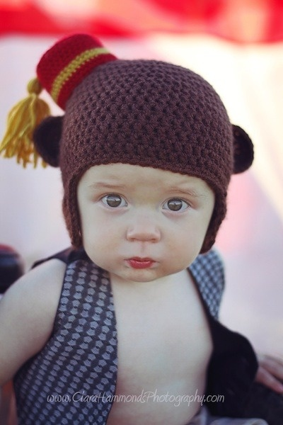 Circus Monkey Crochet Hat  14043ad3637