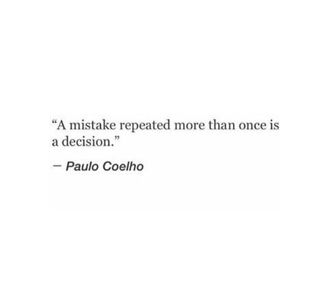 It's a choice you make, not an accident.