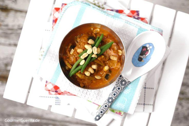 Auberginen-Erdnuss-Suppe