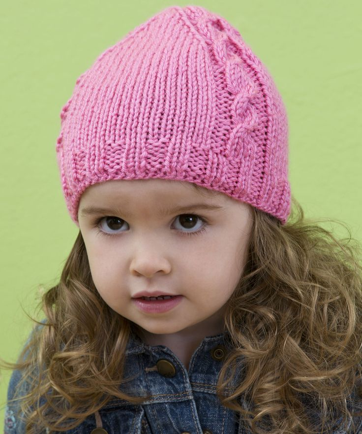 Cabled Baby Beanie Knitting Pattern  #knit  #redheartyarns