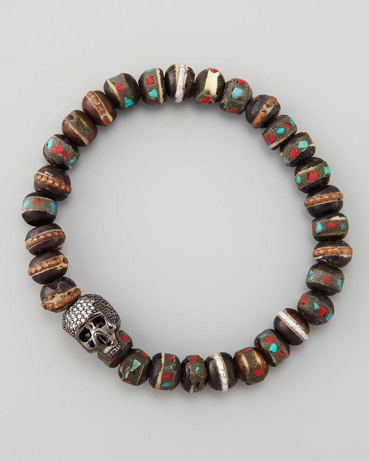 Tai Beaded Skull-Station Bracelet  #skull #bracelet #kysa