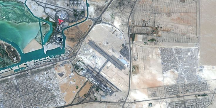 Abu Dhabi, UAE - Image taken in 2014 - PlanetSAT satellite image.