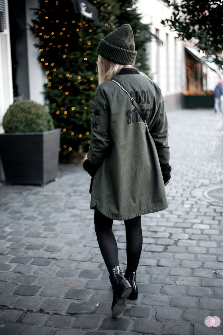 Blog mode // khaki parka
