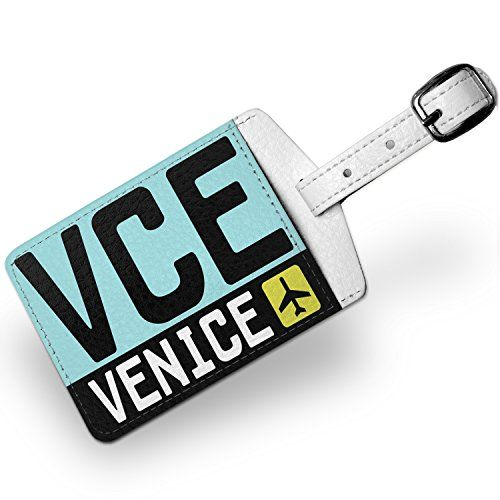 Luggage Tag Airport code VCE  Venice country Italy Travel ID Bag Tag  Neonb -- You can get more details by clicking on the image.