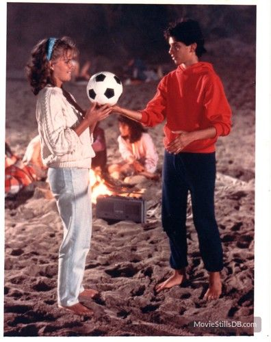 The Karate Kid - (1984) Elisabeth Shue and Ralph Macchio.