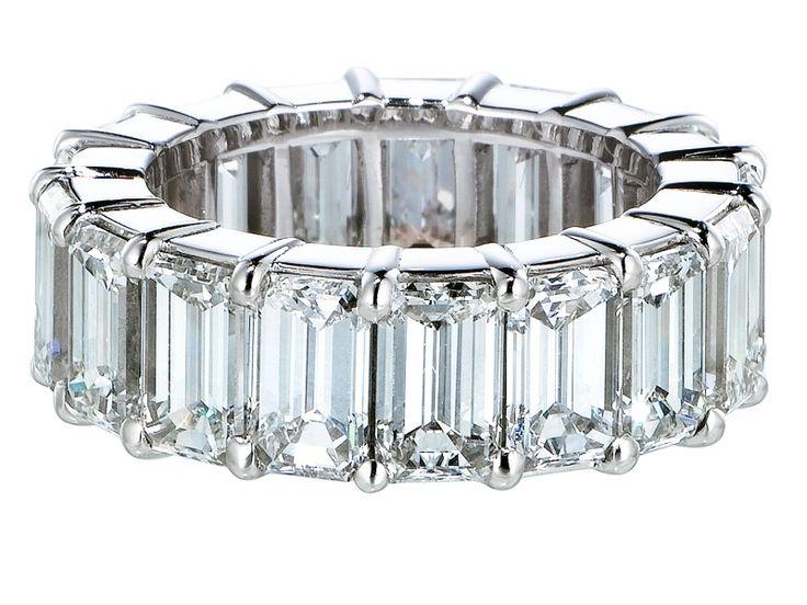 Emerald cut diamond band to go around my emerald cut wedding ring? 10 year anniversary is this year! ;)