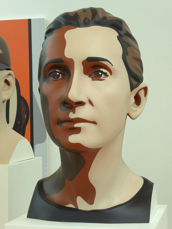 Julian Opie Exhibition: Delphine I (2012)
