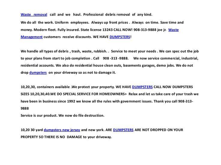 9083139888-somerset-nj-dumpster-rental by dumpster edison new jersey 08817 via Slideshare
