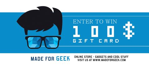 100$ Gift Card at Made For Geek Online Store via... IFTTT reddit giveaways freebies contests