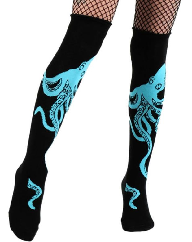 ROLLED SOCKS - ROLLED SOCKS - OCTOPUS TooFast Clothing Punk Rock Gothic Accessories