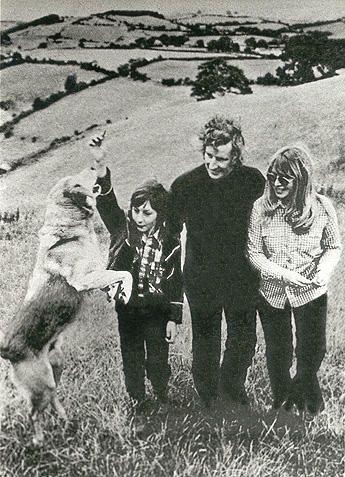 Cynthia Lennon and John Twist with her son, Julian Lennon & dog.
