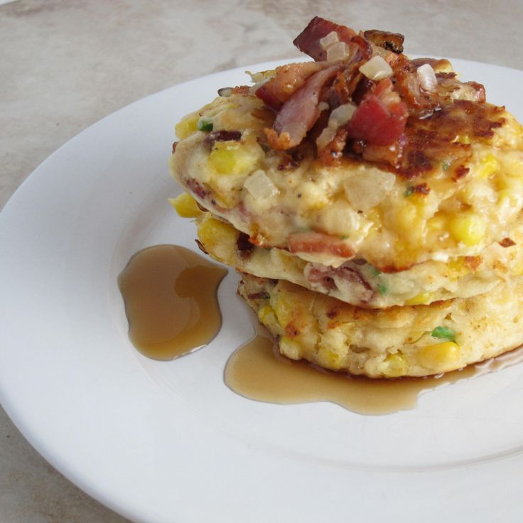 Bacon and Corn Griddle Cakes I made this with pancake batter and added ...