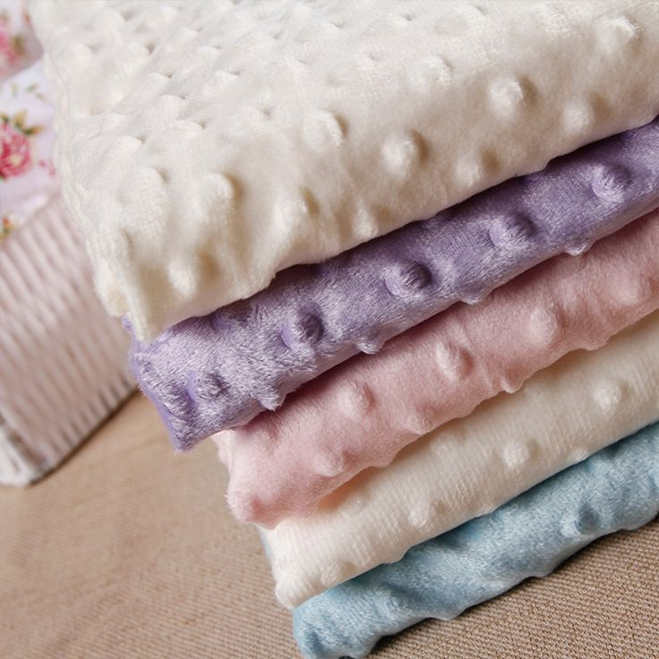 27 Colors Ultrasoft Minky Fabric 1 Meter Bubble Polyester Micro Mink Bedding Blanket Cushion Mattress