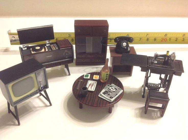 Dollhouse Miniature Magnet Japanese Vintage 1:24 Living Room Furniture Set #Unbranded
