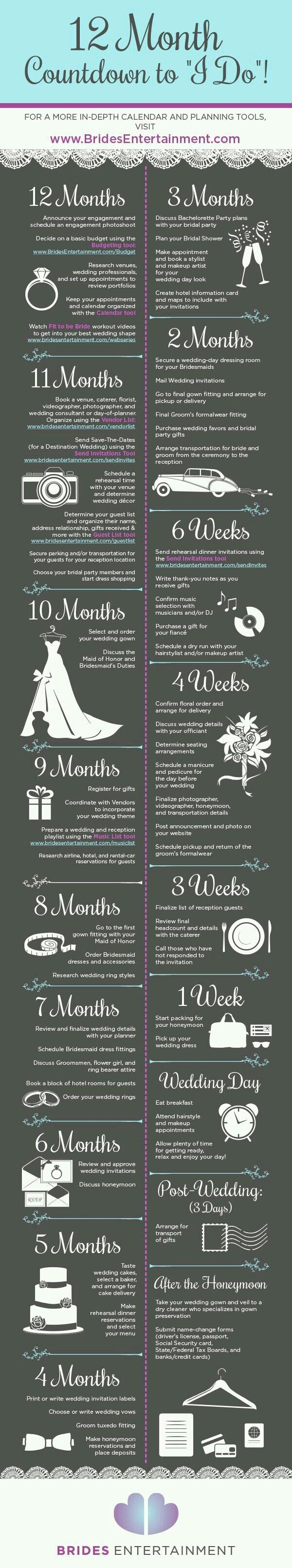 10 Useful Wedding Planning Infographics to Give
